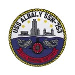 USS ALBANY Ornament (Round)