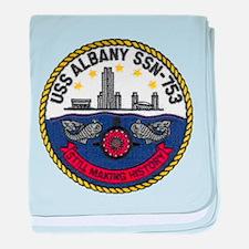 USS ALBANY baby blanket