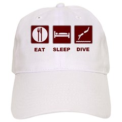 Eat sleep dive Baseball Cap