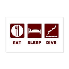 Eat sleep dive 22x14 Wall Peel