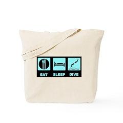 Eat sleep dive Tote Bag