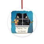 Peeping Tomcat Ornament (Round)