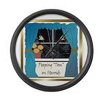 Peeping Tomcat Large Wall Clock