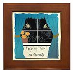 Peeping Tomcat Framed Tile