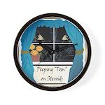 Peeping Tomcat Wall Clock