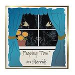Peeping Tomcat Tile Coaster
