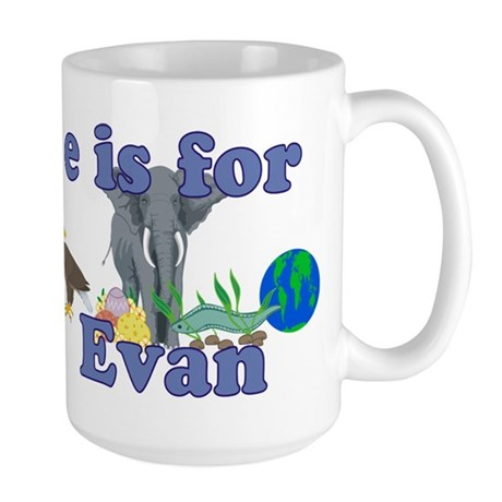 E is for Evan Large Mug