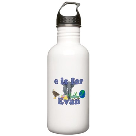 E is for Evan Stainless Water Bottle 1.0L