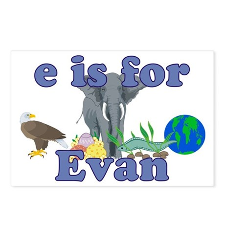 E is for Evan Postcards (Package of 8)