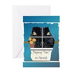 Peeping Tomcat Greeting Card