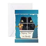 Peeping Tomcat Greeting Cards (Pk of 10)
