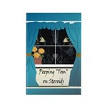 Peeping Tomcat Rectangle Magnet (10 pack)