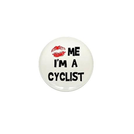 Kiss Me I'm A Cyclist Mini Button (10 pack)
