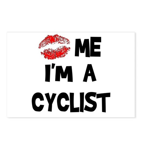 Kiss Me I'm A Cyclist Postcards (Package of 8)