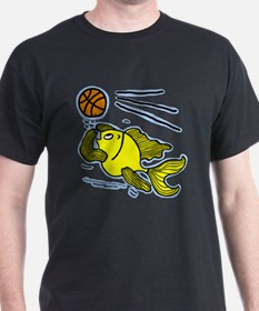 Fish Playing Basketball T-Shirt