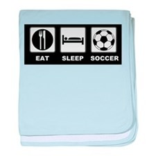 Eat Sleep Soccer baby blanket