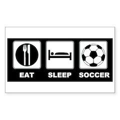 Eat Sleep Soccer Decal