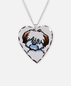 Funny Coton Necklace Heart Charm