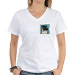 Peeping Tomcat Women's V-Neck T-Shirt