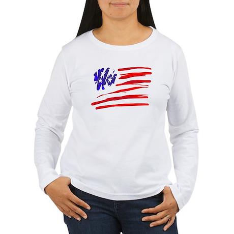 US flag Women's Long Sleeve T-Shirt
