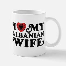 I Love My Albanian Wife Mug