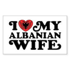 I Love My Albanian Wife Decal