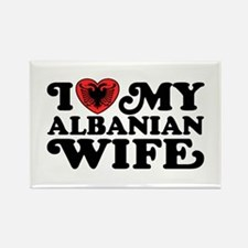 I Love My Albanian Wife Rectangle Magnet