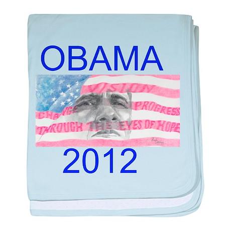 Obama 2012 baby blanket