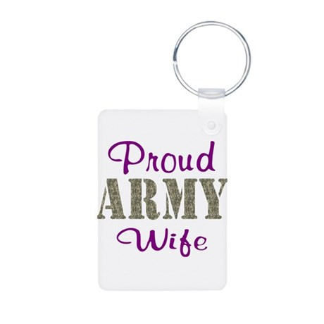 Army Purple Home/Office Aluminum Photo Keychain