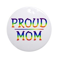 Proud Mom Ornament (Round)
