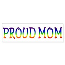 Proud Mom Bumper Car Sticker