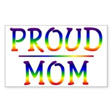 Proud Mom Rectangle Decal