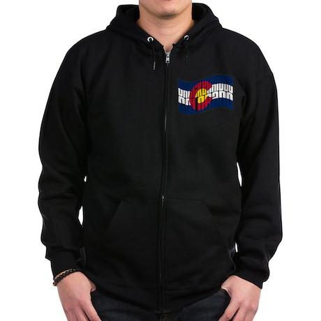 Breckenridge Colorado Flag Zip Hoodie (dark)