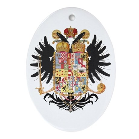 German Coat of Arms Vintage 1765 Ornament (Oval)