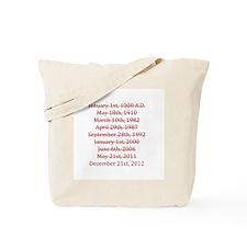 2012 end world Tote Bag