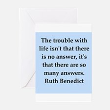 Ruth Benedict quotes Greeting Cards (Pk of 10)