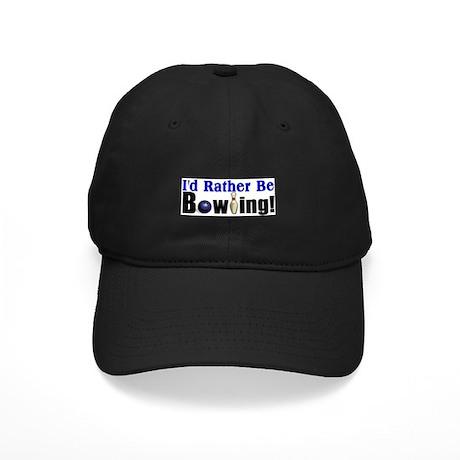 I'd Rather Be Bowling Black Cap