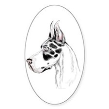 Great Dane Harle HS (fem) Oval Decal