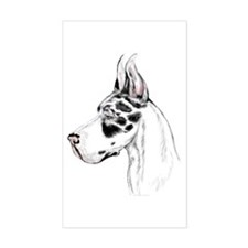 Great Dane Harle HS (fem) Rectangle Decal
