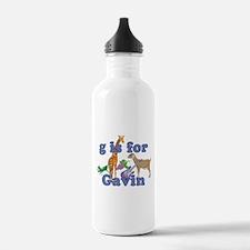 G is for Gavin Water Bottle