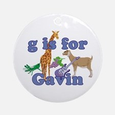 G is for Gavin Ornament (Round)