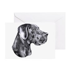 Great Dane HS Blue UC Greeting Cards (Pk of 10)