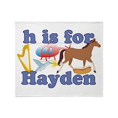 H is for Hayden Throw Blanket