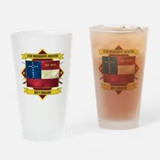 11th Mississippi Drinking Glass