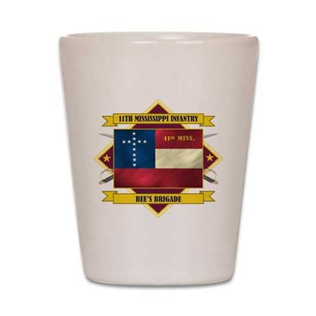 11th Mississippi Shot Glass