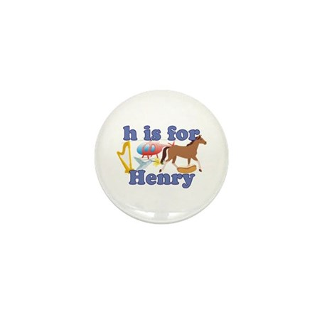 H is for Henry Mini Button (100 pack)