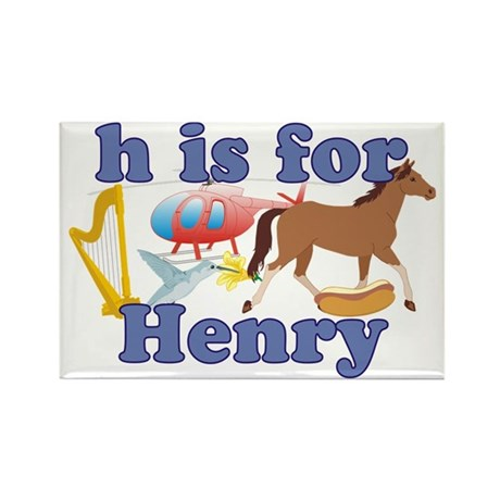 H is for Henry Rectangle Magnet (100 pack)