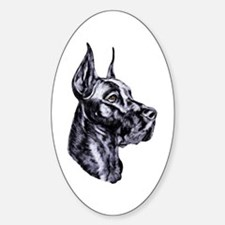 Great Dane Black HS Oval Decal