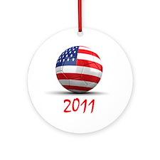 USA Soccer 2011 Ornament (Round)