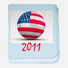 USA Soccer 2011 baby blanket